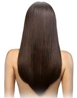 permanenta håret rakt
